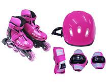 Kit radical com roller completo tam. G rosa - Bel Sports -