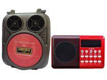 Kit Rádio Fm Altomex e Caixinha de Som Portátil Wireless Portente - Kimiso