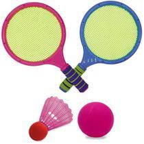 Kit Raquete e Peteca - Rosa - Unik Toys -