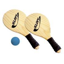 Kit raquete frescobol klopf + bolinha -