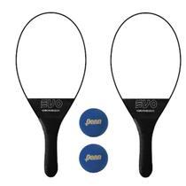 Kit Raquetes Frescobol Evo Carbon com 2 Bolas Penn -