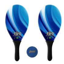 Kit Raquetes Frescobol Evo Fibra Vidro Blue com Bola Penn -