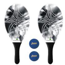 Kit Raquetes Frescobol Evo Fibra Vidro Empire com 2 Bolas Penn -