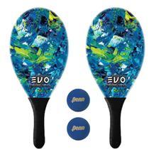 Kit Raquetes Frescobol Evo Fibra Vidro Estilo com 2 Bolas Penn -