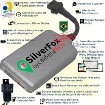 Kit Rastreador E Bloqueador Veicular Gps caldeiraTECH SilverFox - Sem Mensalidade -