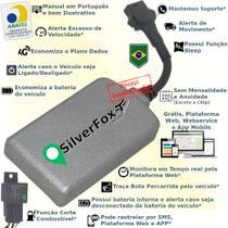 Kit Rastreador E Bloqueador Veicular Gps SilverFox - Sem Mensalidade -