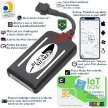 Kit Rastreador Veicular Gps Blackshark com Chip caldeiraTECH Multi-Connect 5 EM 1 -