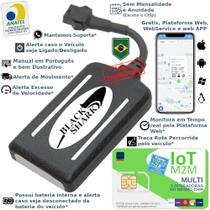 Kit Rastreador Veicular Gps Blackshark com Chip CTH Multi-Connect 5 EM 1 -
