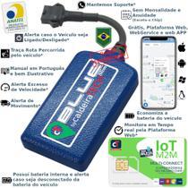 Kit Rastreador Veicular Gps caldeiraTECH Blue + Chip caldeiraTECH M2M  Multi-Connect 5 em 1 -