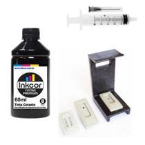 Kit Recarga de Cartuchos Preto com 60ml de Tinta Compativel com Impressora HP 2774 - Formulabs