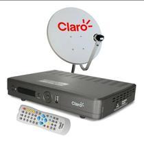Kit receptor claro sd hd e antena 60 cm -