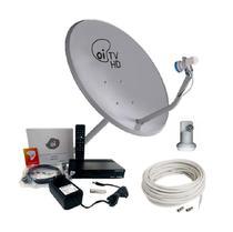Kit Receptor E Antena 60cm Oi Tv Livre Hd Lnbf E Cabo - Kaon
