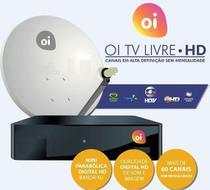 Kit Receptor E Antena 60Cm Oi Tv Livre Hd Lnbf E Cabo -