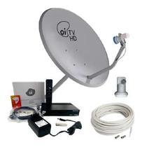 Kit Receptor Oi Tv Livre Hd Digital Antena 60CM Completa - Multilaser