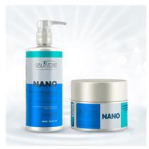 Kit Reconstrução Nano - Shampoo 480 Ml + Máscara Condicionante Nano 250 Ml - Salvatore