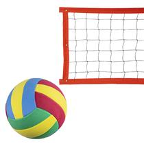 Kit rede de vôlei especial 8 metros laranja + bola - Evo Sports