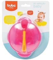 Kit Refeição Baby com Colher 5230 Rosa - Buba -