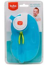 Kit Refeição Com Divisória Azul 5806 Buba -