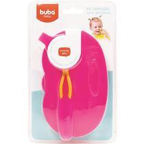 Kit Refeição Com Divisória  Rosa - Buba -