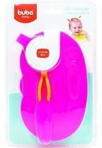 Kit Refeicao Cor Rosa Buba Baby Bebe Menina Pratinho Pote Infantil Divisoria Colher E Tampa . -