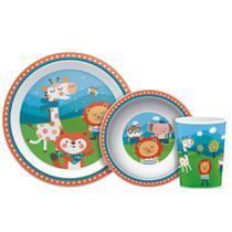 Kit Refeição Para Bebê 3 PÇS Happy Friends Buba 7532 -