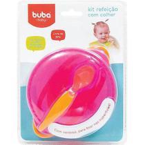 Kit Refeição Rosa com Colher - Buba 5803 -