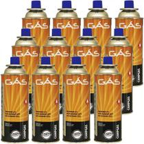 Kit Refil De Gas Campgas Para Fogareiros E Macaricos Nautika 12 Unidades -