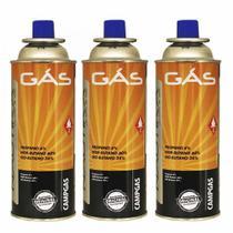 Kit Refil De Gas Campgas Para Fogareiros E Macaricos Nautika 3 Unidades -