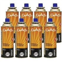 Kit Refil De Gas Campgas Para Fogareiros E Macaricos Nautika 8 Unidades -