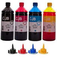 Kit Refil de Tinta impressoras Epson L355 L365 L375 L395 (4x1000ml) - Colour Jet Brasil