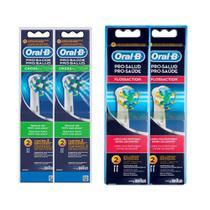 Kit Refil Escova Elétrica Oral-B Cross Action 4 Unidades + Refil Floss Action 2 Unidades - Oral B
