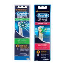 Kit Refil Escova Elétrica Oral-B Floss Action 2 unidades + Cross Action  com 2 unidades - Oral B