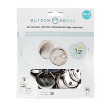 Kit Refil para Botons WeR Memory Keepers Button Press Pack Medium 37 mm 75 Peças  661070 - WE R MEMORY