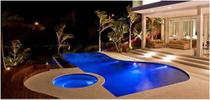 Kit Refletor para  Piscina 8 Led 45 Colorido + Comando Pooltec -