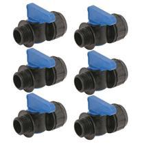 Kit Registro inicial 3/4 rosca Mangueiras Santeno 6 unidades -