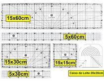 Kit Réguas 15x60 15x30 5x60 5x30 15x15 Patchwork - Levolpe