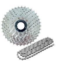 Kit Relação Cassete E Corrente De 9v Para Bicicleta - Gta