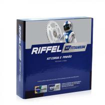Kit Relação Nxr Bros 160 15-18 C/ Corrente Titanium - Riffel -
