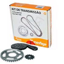Kit Relação Tração Transmissão CBX 250 Twister Cofap Aço 1045 -
