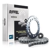 Kit Relação/transmissão FAZER 250cc Com Retentor Rifeel  ano compatível 2006 á 2017 - Riffel