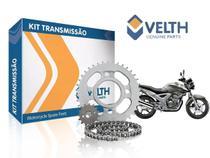 KIT Relação Transmissão Honda CBX 250 Twister AÇO 1045 Reforçado Velth -