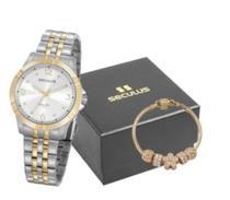 Kit relógio aço com pulseira 20949a1 - Seculus