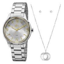 Kit relógio allora feminino al2035fat/k3k -