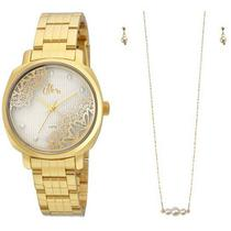 Kit Relógio Allora Feminino Al2035fgi/K4k -