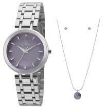 Kit relógio allora feminino al2036flm/k3a -