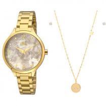 Kit Relógio Allora Feminino Colar e Brincos AL2036FIG/K4B -