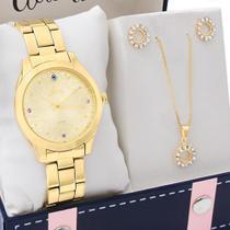 Kit Relógio Allora Feminino Com Colar e Brincos AL2035FCM/K4X -