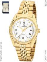 Kit Relógio Champion Feminino Quartz CH24777W Dourado -