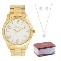 Kit relógio condor feminino co2036kuh/k4b -