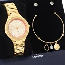 Kit Relógio Condor Feminino Com Bracelete e Brincos CO2035MQI/K4D -